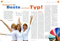 PRESSEBERICHT  Gesundheit - Ausgabe 4/05 Machen Sie das Beste aus Ihrem Typ!